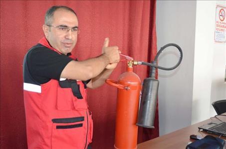 AFAD Alaca MYO' da Afetler ve Yangın Sunumu Yaptı