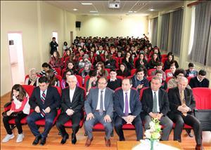 Rektörümüz Çorum Atatürk Anadolu Lisesi Öğrencileriyle Bir Araya Geldi