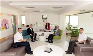 Rektörümüz Ahlatçı Holding'i Ziyaret Etti