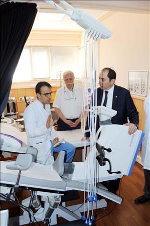 Rektörümüz Kardiyak Rehabilitasyon Hastalarını Ziyaret Etti