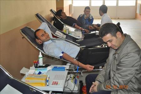 Osmancık Ömer Derindere Meslek Yüksekokulu'nda Kızılay'a Kan Bağışı Yapıldı