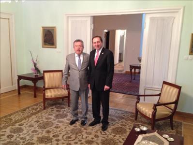 Rektörümüz Polonya Büyükelçisi Prof.Dr. Yusuf Ziya Özcan'ı Ziyaret Etti