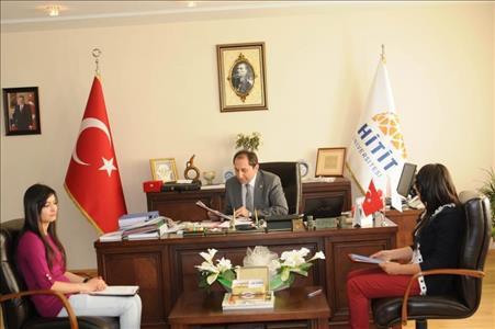 'Genç Haber' Gazetesi Ekibi Rektör ALKAN'ı Ziyaret Etti