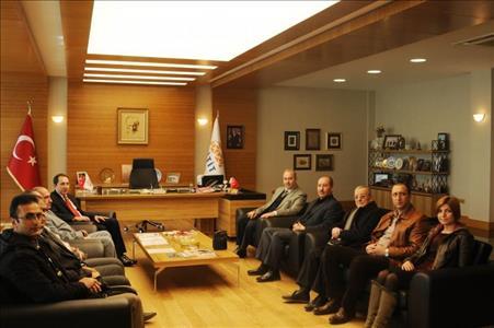 Çorum Gazeteciler Cemiyeti Yönetim Kurulundan Rektörümüze Ziyaret