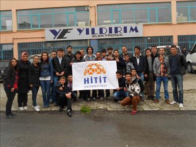Alaca MYO Öğrencileri Yıldırım Elektronik'e Teknik Gezi Yaptı