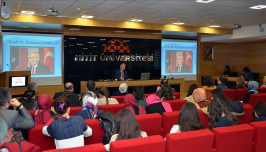 Rector of Bartın University gives a conference about 'Village Novel Within the Context of Village R
