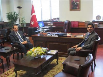 Rektörümüzden Atatürk Kültür, Dil ve Tarih Yüksek Kurumu Başkanına Ziyaret