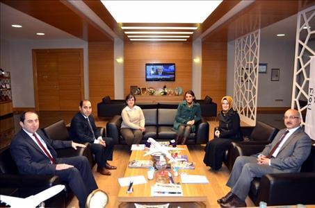 Anadolu Özel Eğitim Merkezi Müdüründen Rektörümüze Ziyaret