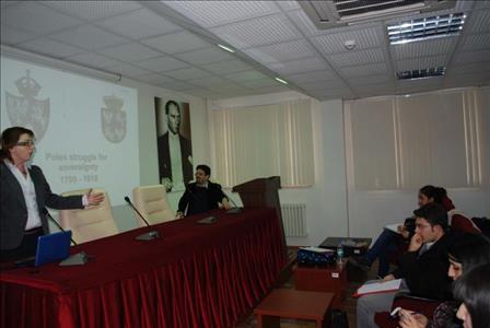Üniversitemiz Siyaset Bilimi ve Kamu Yönetimi Bölümünde Erasmus Konuğu