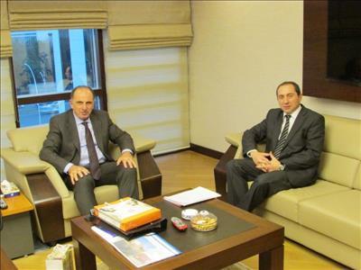 Rektörümüz Kredi ve Yurtlar Kurumu Genel Müdürü Hasan ALBAYRAK'ı Ziyaret Etti