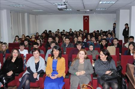 Author Mürvet SARIYILDIZ visits Our University