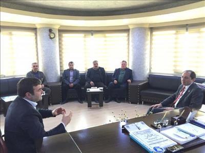 Rektörümüz ÇESOB Başkanı Yalçın Kılıç'ı Ziyaret Etti