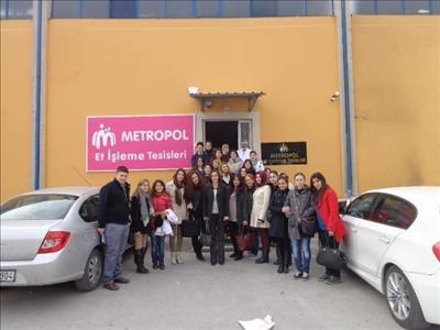 """Gıda Mühendisliği Öğrencileri """"Metropol Et Entegre Tesisleri""""ne Teknik Gezi Düzenledi"""