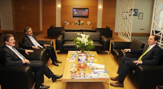Rektörümüzü Erzincan Üniversitesi Rektörü Ziyaret Etti