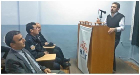 """Sungurlu MYO'da Emniyet Personeline """"İletişim ve Halkla İlişkiler"""" Semineri Verildi"""