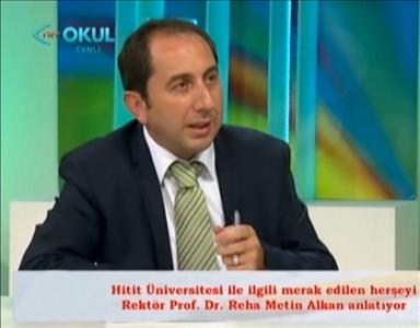 """Rektör ALKAN TRT OKUL'da Yayınlanan """"Rektörler Konuşuyor"""" Programının Konuğu Olacaktır"""