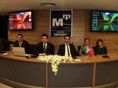 Osmancık Ömer Derindere MYO'dan Çorum SMMMO'ya Ziyaret