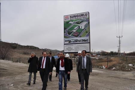 Examine on Sungurlu Vocational School Campus Site by the Rector