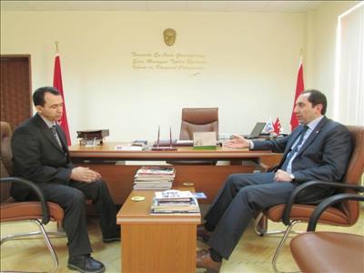 Rektörümüzden TSE Ürün Belgelendirme Müdürü Arslan KARAKÖSE'ye Hayırlı Olsun Ziyareti