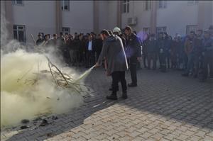 Meslek Yüksekokulumuzda Yangın Tatbikatı Gerçekleştirildi